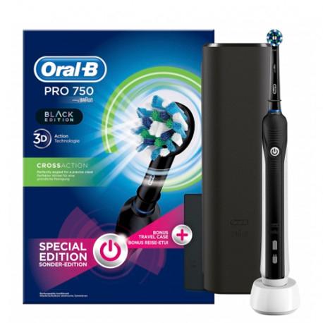 2 X Oral B Pack Cepillo Eléctrico PRO 750 + Funda Viaje