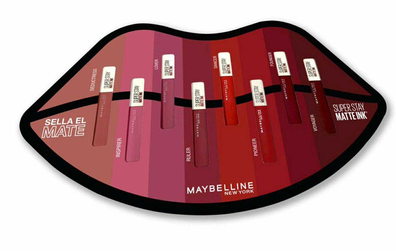 Set 8 labiales matte Maybelline