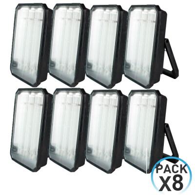 Pack 8 proyectores para exterior de bajo consumo 72w por 69,91€