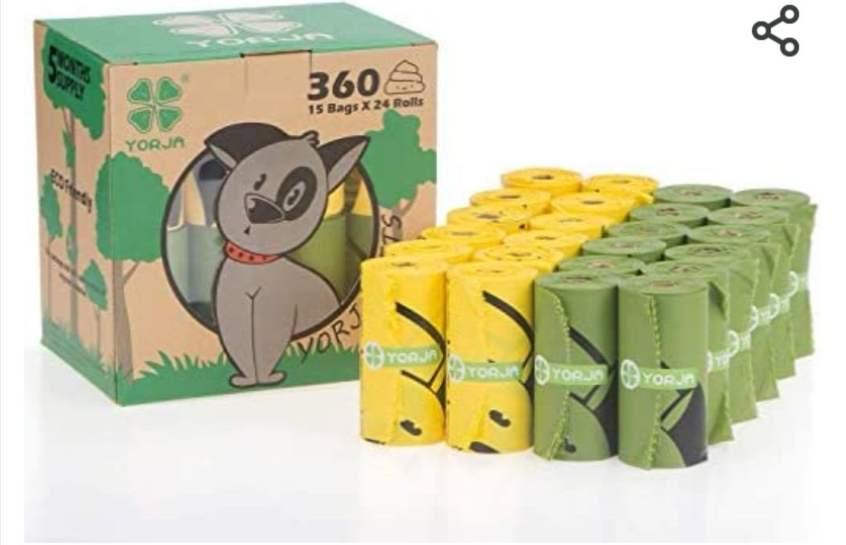 Pack 24 rollos de 15 bolsitas un total de 360 unidades de bolsas Biodegradables para Excrementos