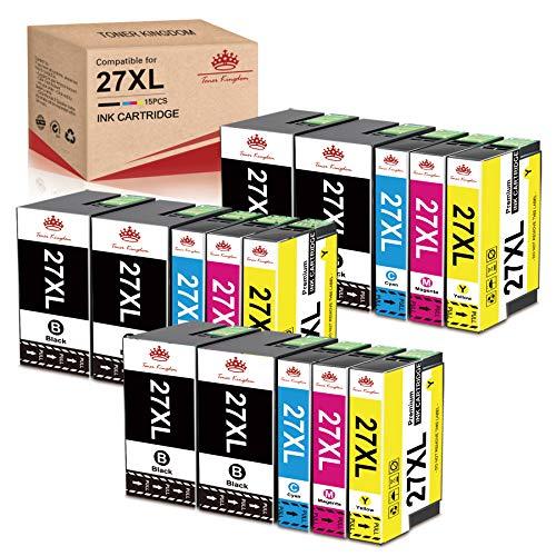 Toner Kingdom Compatible para Epson 27XL 27 Cartuchos de Tinta de Repuesto para Epson Workforce