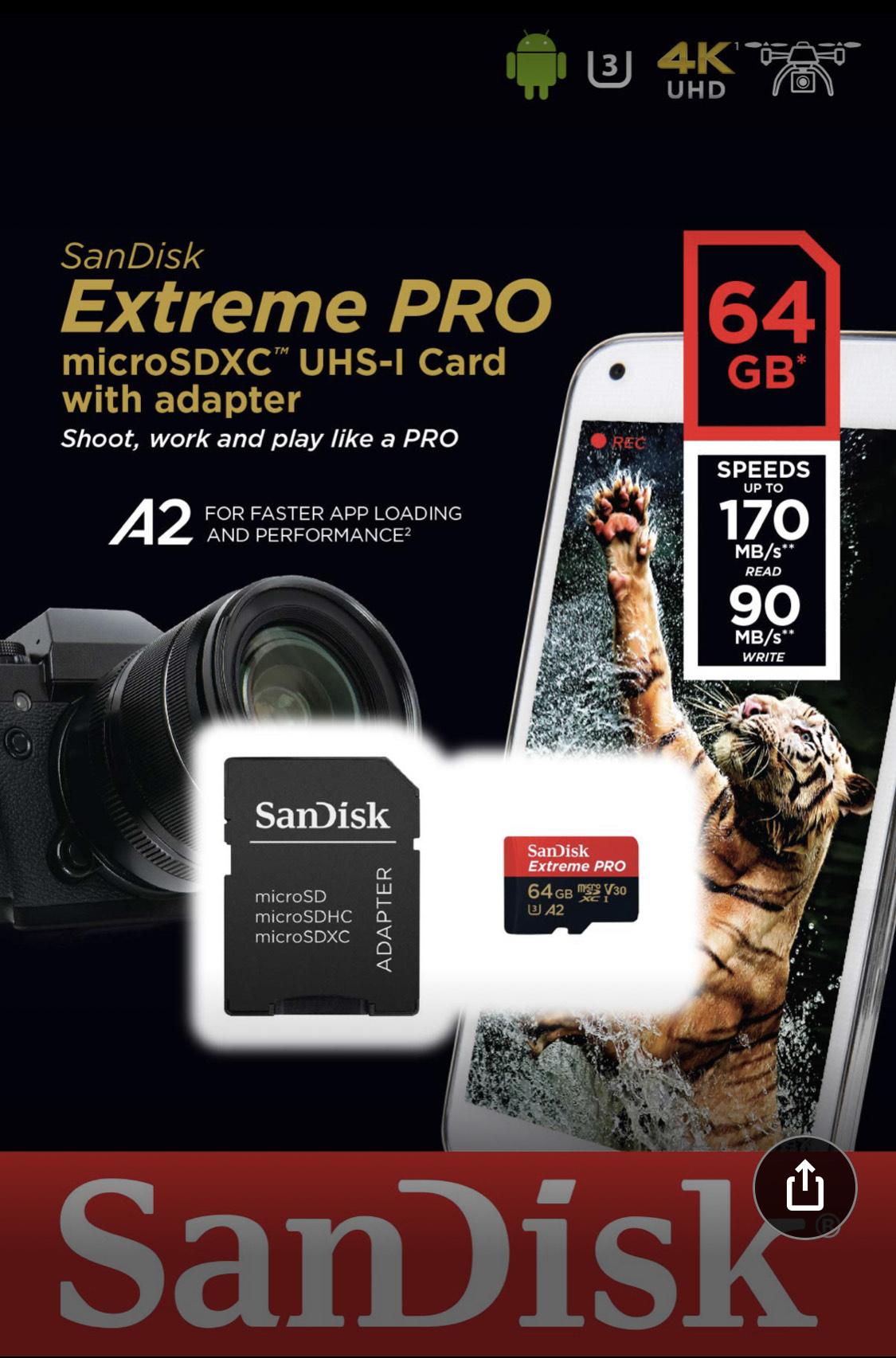 SanDisk Extreme PRO 64gb