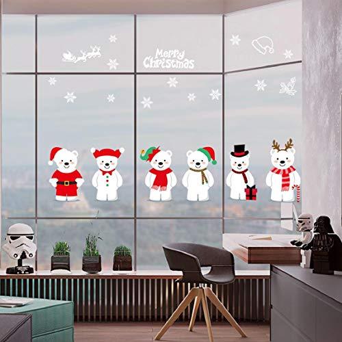 Pegatinas para ventana oso navidad
