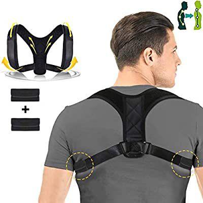 Soporte de corrector de postura ajustable para columna vertebral con almohadilla de descompresión