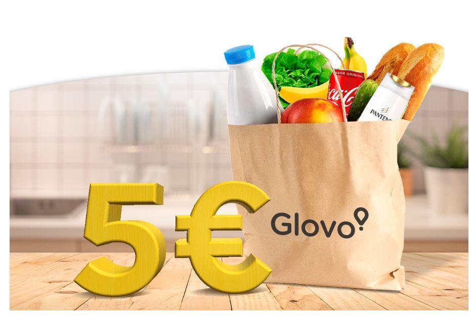5€ Glovo para hacer la compra
