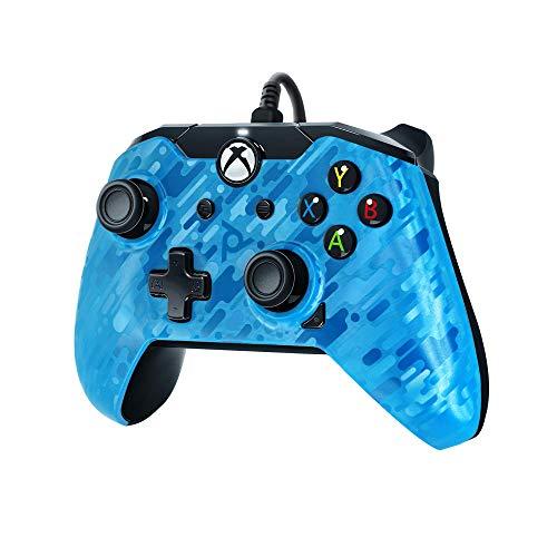 PDP Gaming - Mando con cable Azul Xbox One