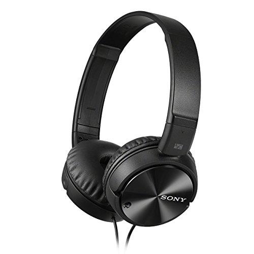 Sony MDRZX110NAB.CE7- Auricular plegable (cancelación de ruido, autonomía 80 horas, micrófono incorporado, control remoto smartphones) negro