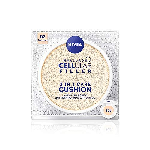 Hyaluron Cellular Filler Cushion 3 en 1 Tono Medio con FP15
