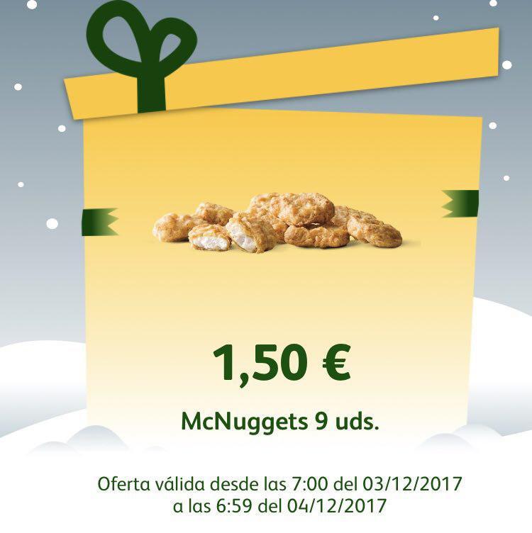 McNuggets 9 unidades por solo 1,5€