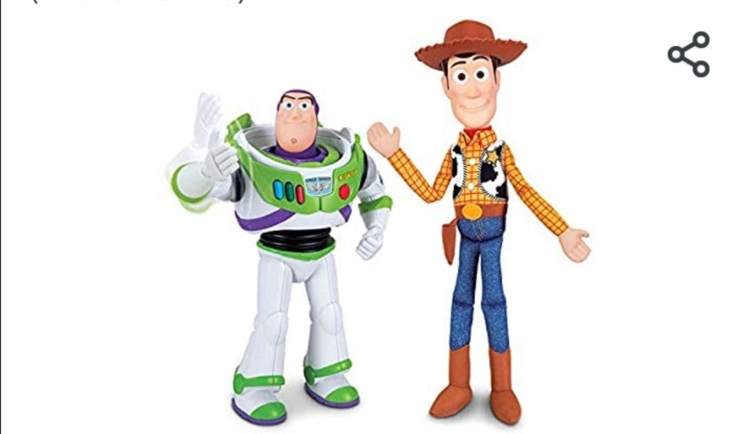 Toy Story - Pack de Amigos Buzz 30 cm y Woody 40 cm
