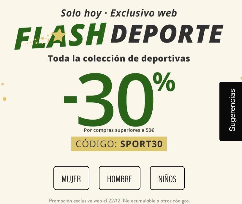 30% de descuento en compras superiores a 50€