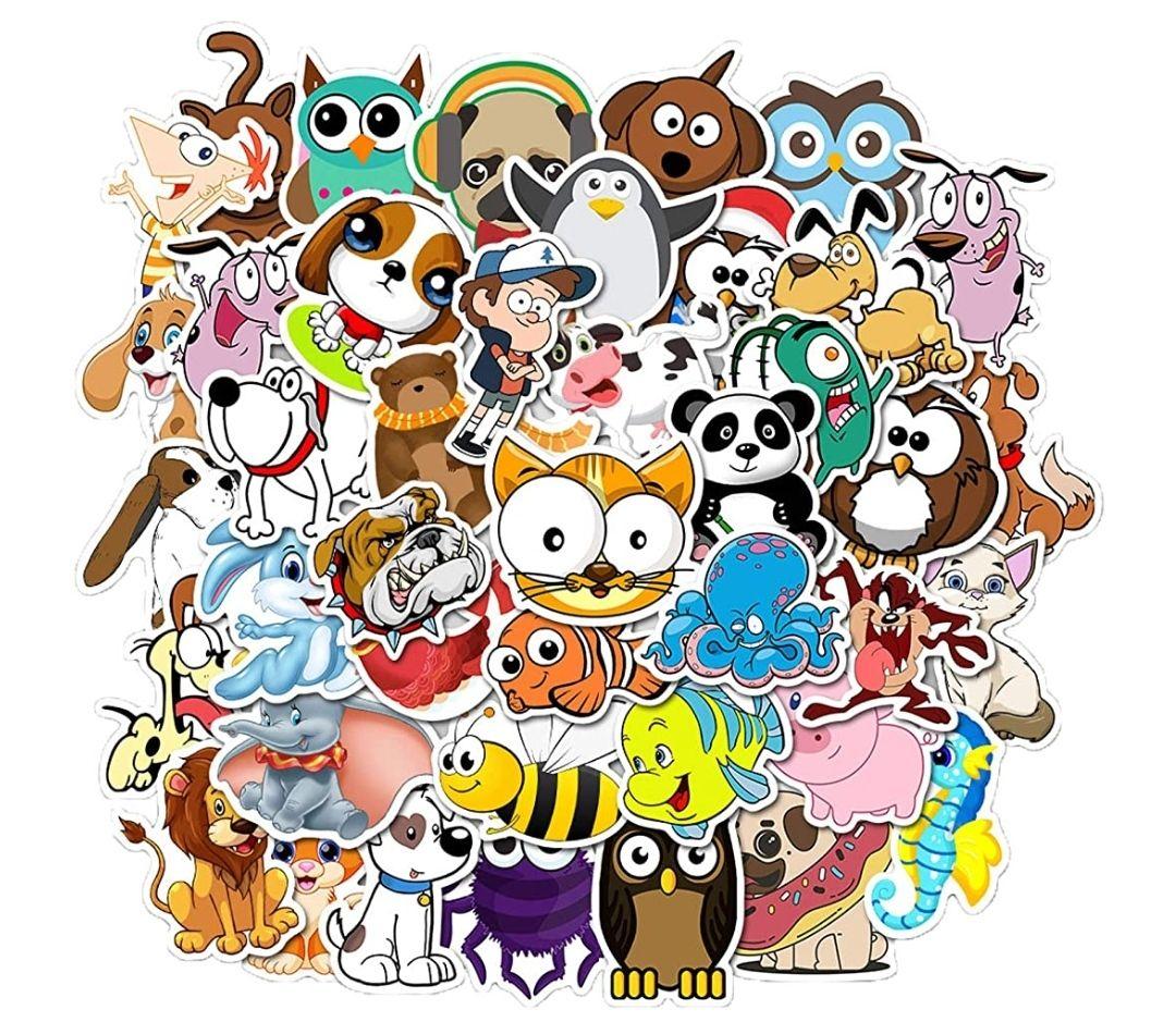 Pegatinas Animales 50PCS(Stickers Vinilo Graffiti Calcomanías )