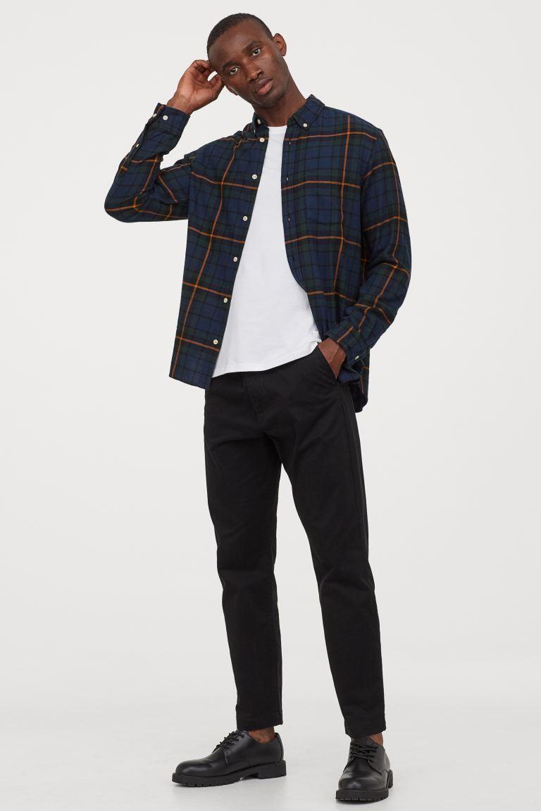 Camisa de franela hombre de cuadros de H&M