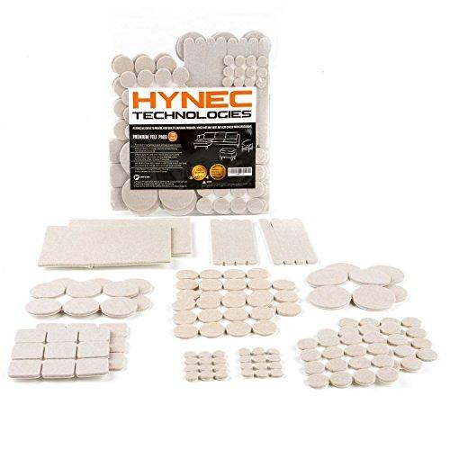 156 piezas de Almohadillas de Fieltro Adhesivo Premium para Muebles Set GRANDE de 8 Tamaños