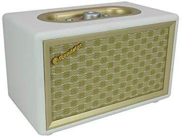 Radio Vintage con Altavoz Bluetooth y Aux-in, Color Crema