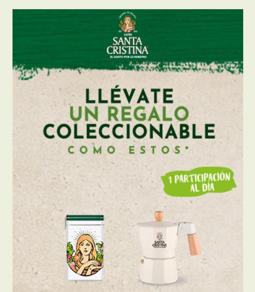 Un regalo coleccionable Cafés Santa Cristina, Los primeros se llevarán los regalos de forma segura, sin sorteos