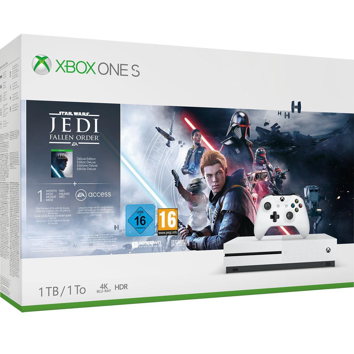 Xbox One S+ Juego Jedi Fallen Order+1 Mes de EA Access