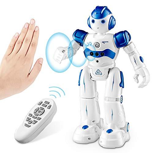 SUNCLAY Robot Juguete, Programable Juguete Educativos, Radiocontrol y Gesto Control Robot, Múltiples Funciones para Cantar Bailar