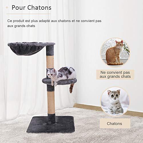 Famgizmo - Árbol para gato con poste de sisal, 72 cm, rascador para gatos.