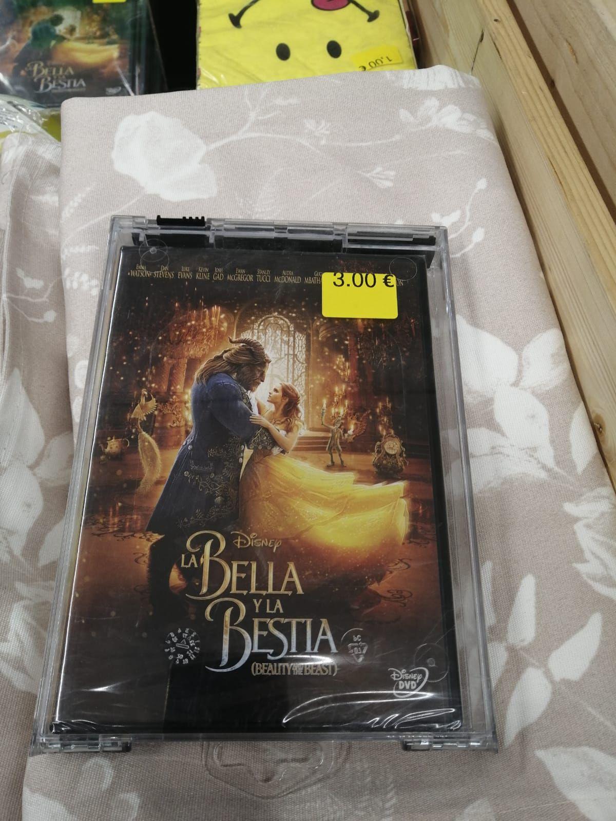 La bella y la bestia DVD y Blu-ray