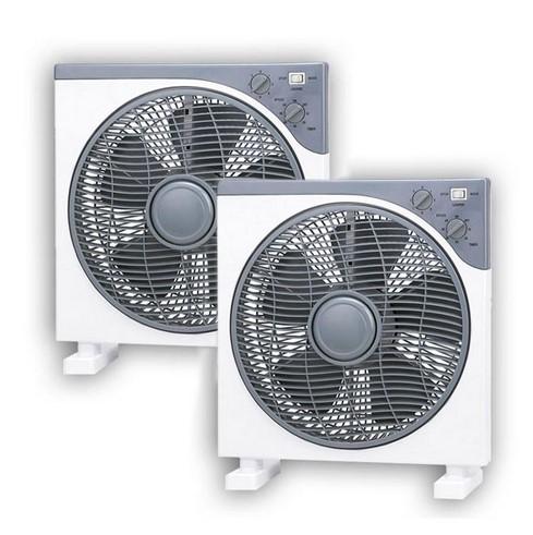Pack 2 ventiladores Box Fan Helios 30W DF12-30 blanco