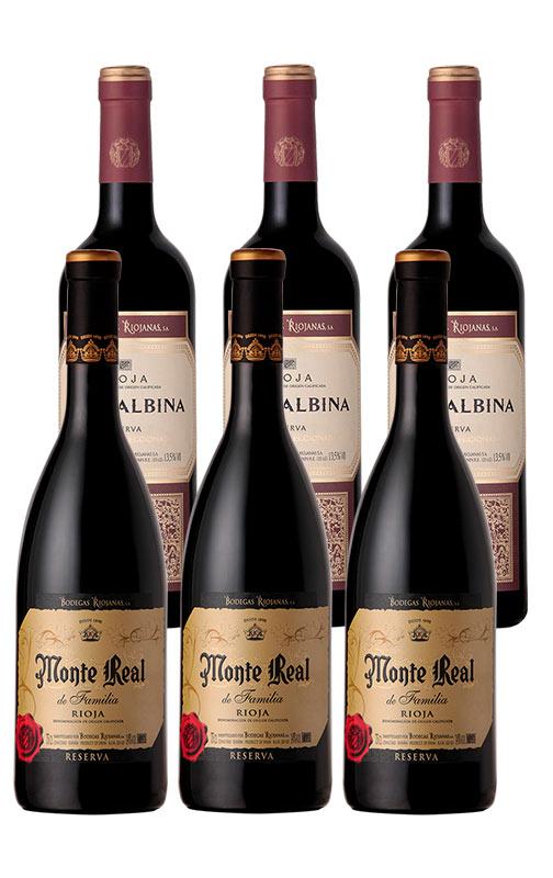 Pack Vino Rioja: Viña Albina y Monte Real