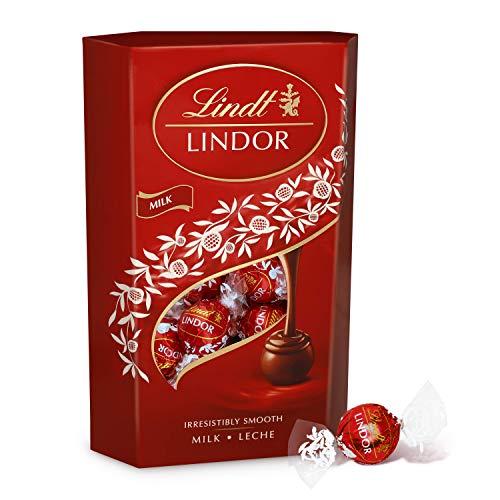 Lindt Lindor Cornet Caja de bombones cremosos de chocolate con leche, 337gr.