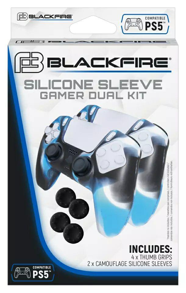 Pack 2 fundas + 4 grips DualSense