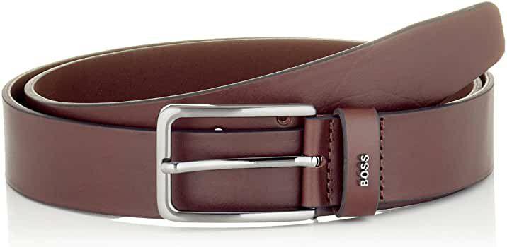 TALLA 110 - BOSS Cinturón de cuero para Hombre, marrón.