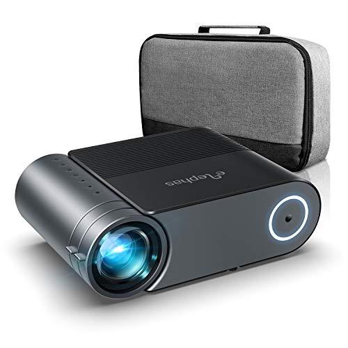Proyector, Elephas Mini Proyector compatible con 1080P full HD 5500 Lumen , Portatil Cine en Casa de 200 Pulgadas 1280x720