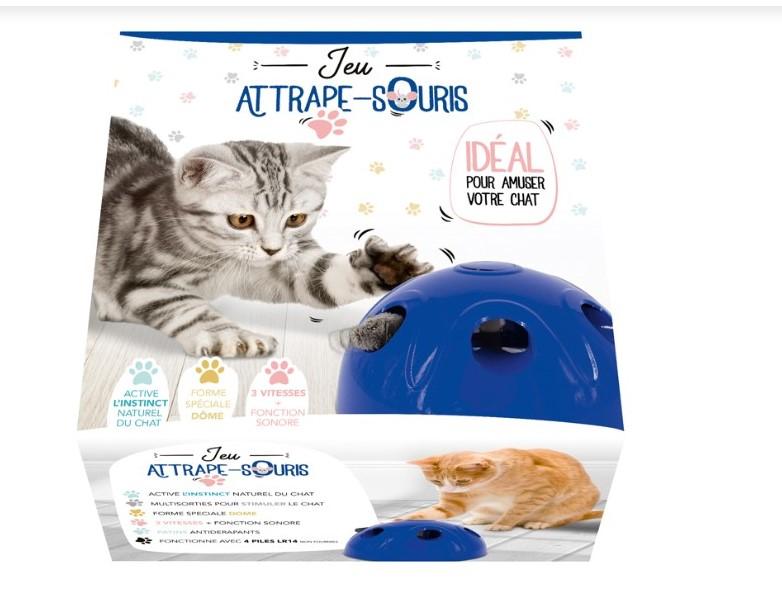 Juego de ratón para gato - Azul