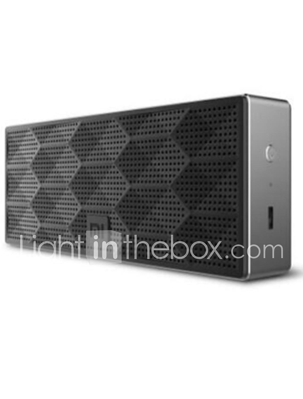 Altavoz xiaomi mini caja cuadrada bluetooth 4.0edr hifi inalámbrico mini conexión estéreo portátil manos libres
