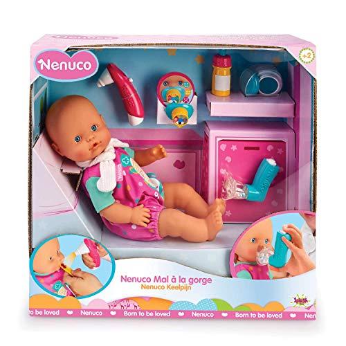 Nenuco Dolor de Garganta - Muñeca bebé, para niños y niñas a partir de 3 años