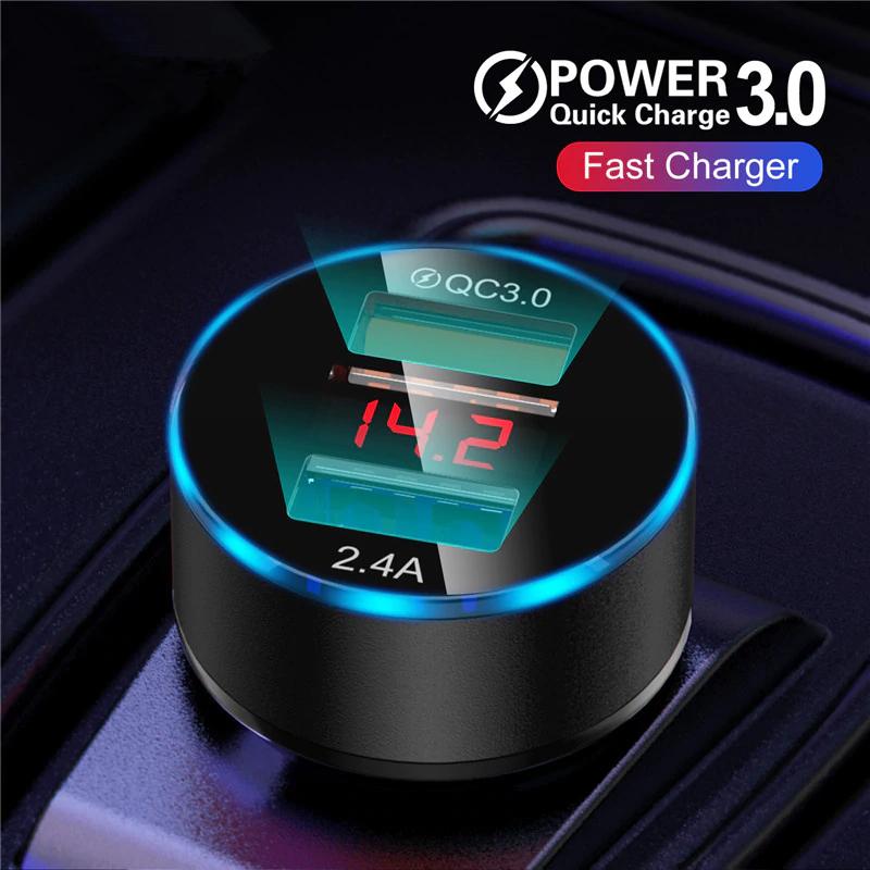 Cargador USB Dual para coche
