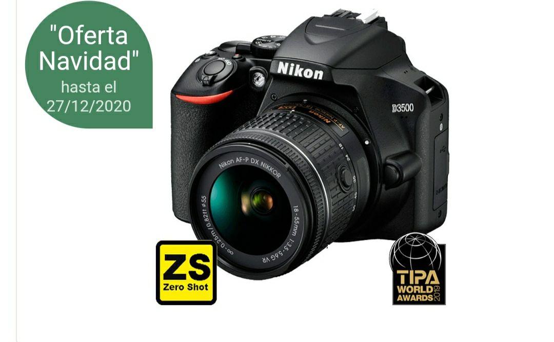 Cámara Nikon D3500 + Objetivo AF-P DX NIKKOR 18-55mm f/3.5-5.6G VR (Zero Shot)
