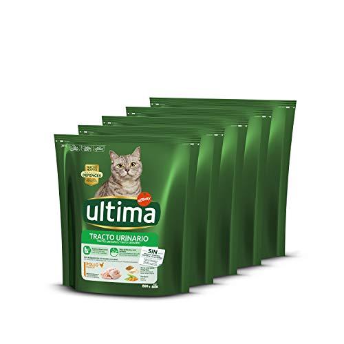 Ultima Pienso para Gatos con Problemas del Tracto Urinario con Pollo - Pack 5 x 800 gr - Total: 4 kg