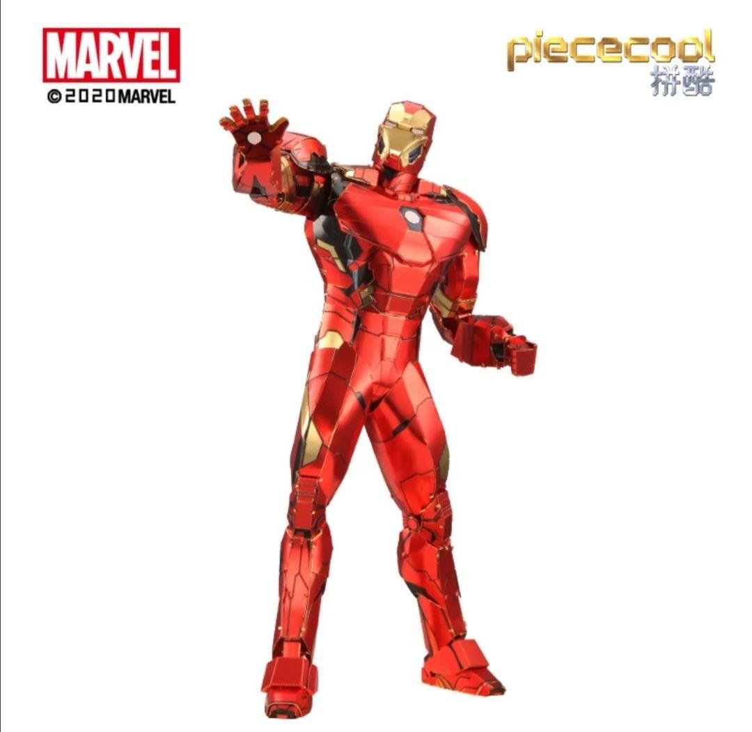 Rompecabezas en 3D, modelos de Capitán América, Iron Man, Thor