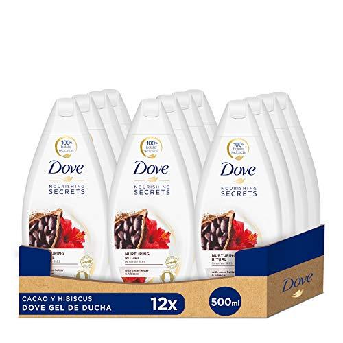 Dove Gel de Ducha Cacao y Hibiscus - Pack de 12x500 ml