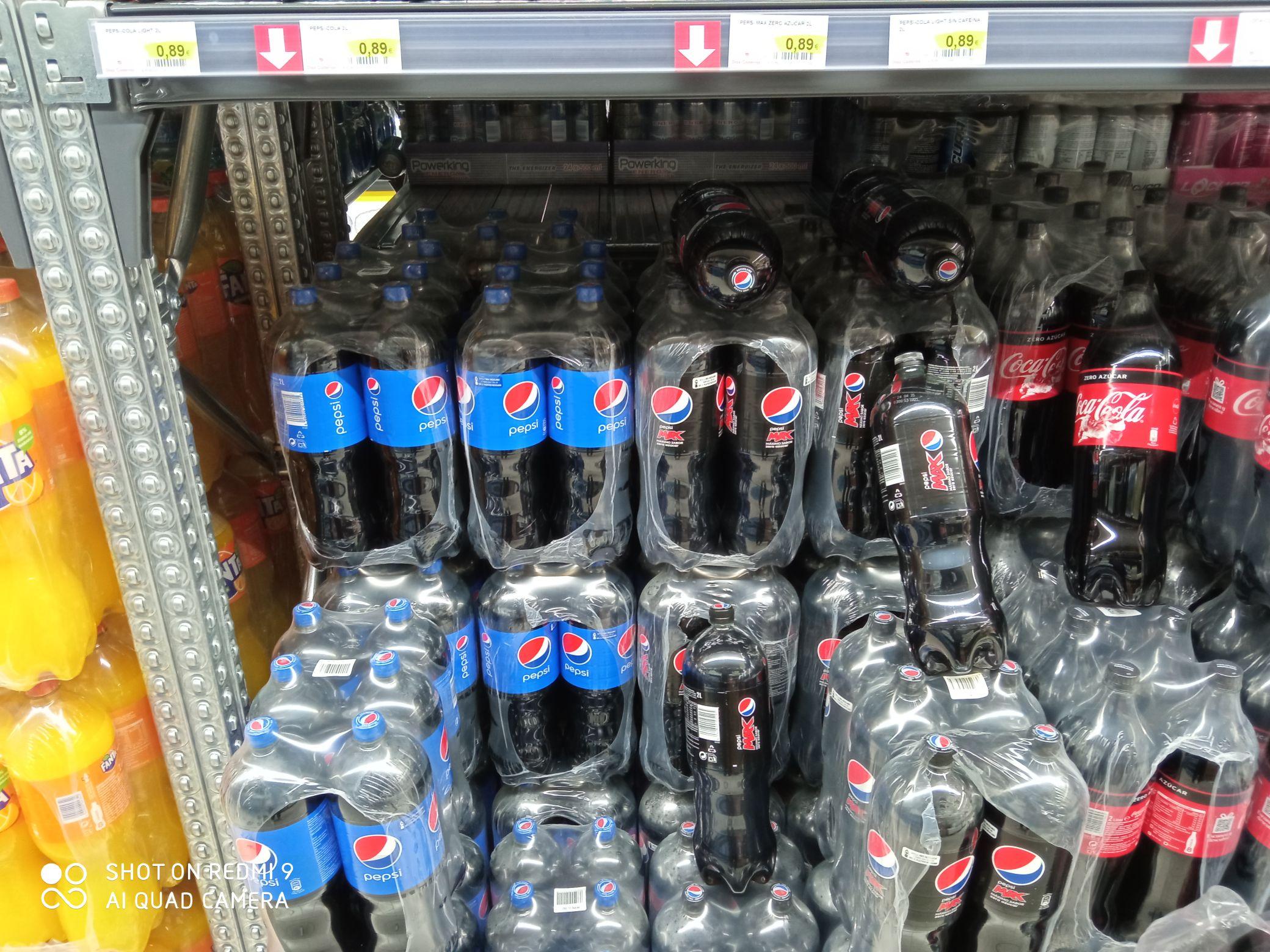 Pepsi o Pepsi Max 2l a 0,89€. Supermercados Díaz Cadenas