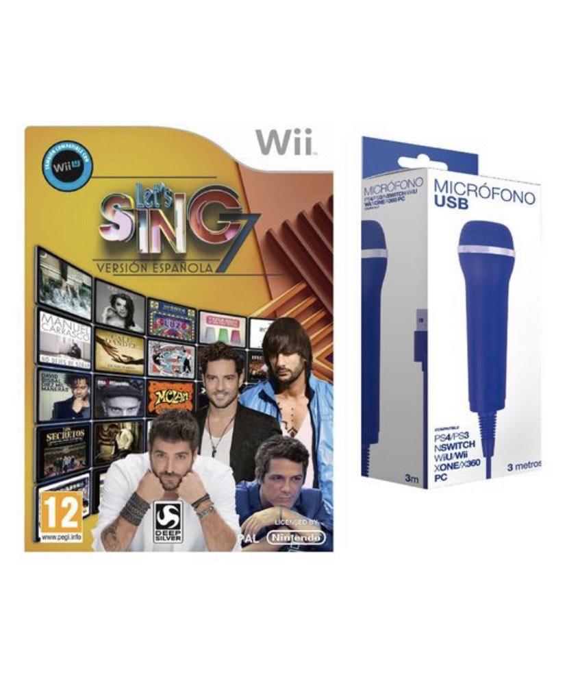 Let's sing 7 Versión Española Wii + Micrófono USB Compatible con Ps4/ Ps3/ Wii/ xbox/ Pc