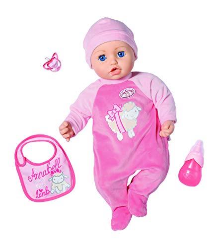 Baby Annabell - Muñeca con función Annabell 43 cm, Sonidos y Movimientos realistas, Llorar, Tear, Divertida,