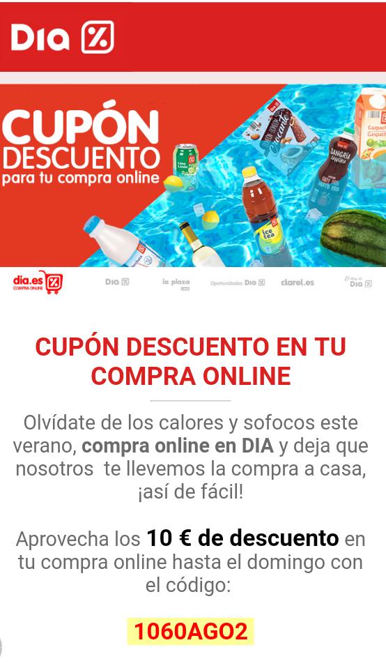 Cupón 10€ descuento por compra en Dia.es