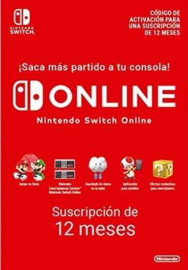 Suscripción Nintendo Switch Online 12 meses