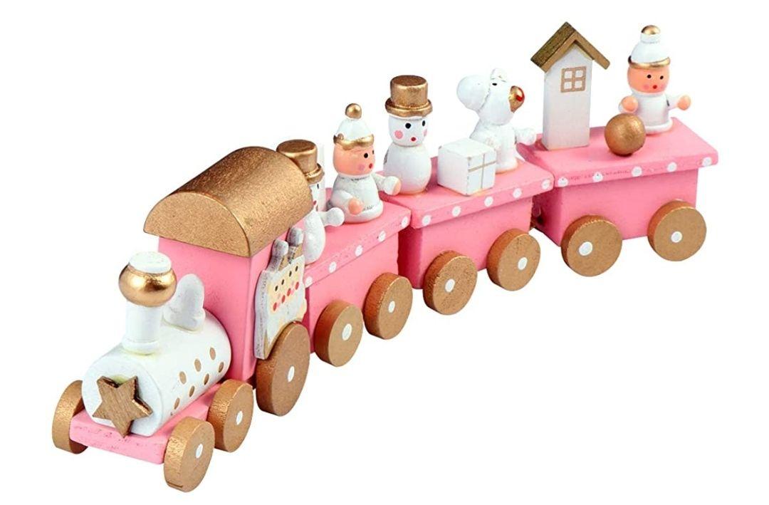 Mini tren de madera(navidad)