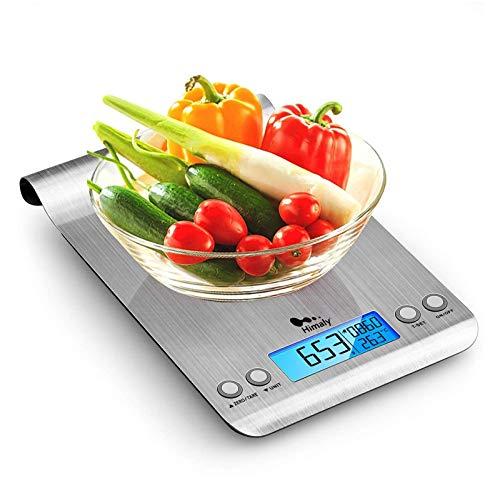 Báscula digital para cocina de acero inoxidable - 5kg de capacidad