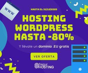 Hasta 80% en Hosting WordPress SSD + cPanel