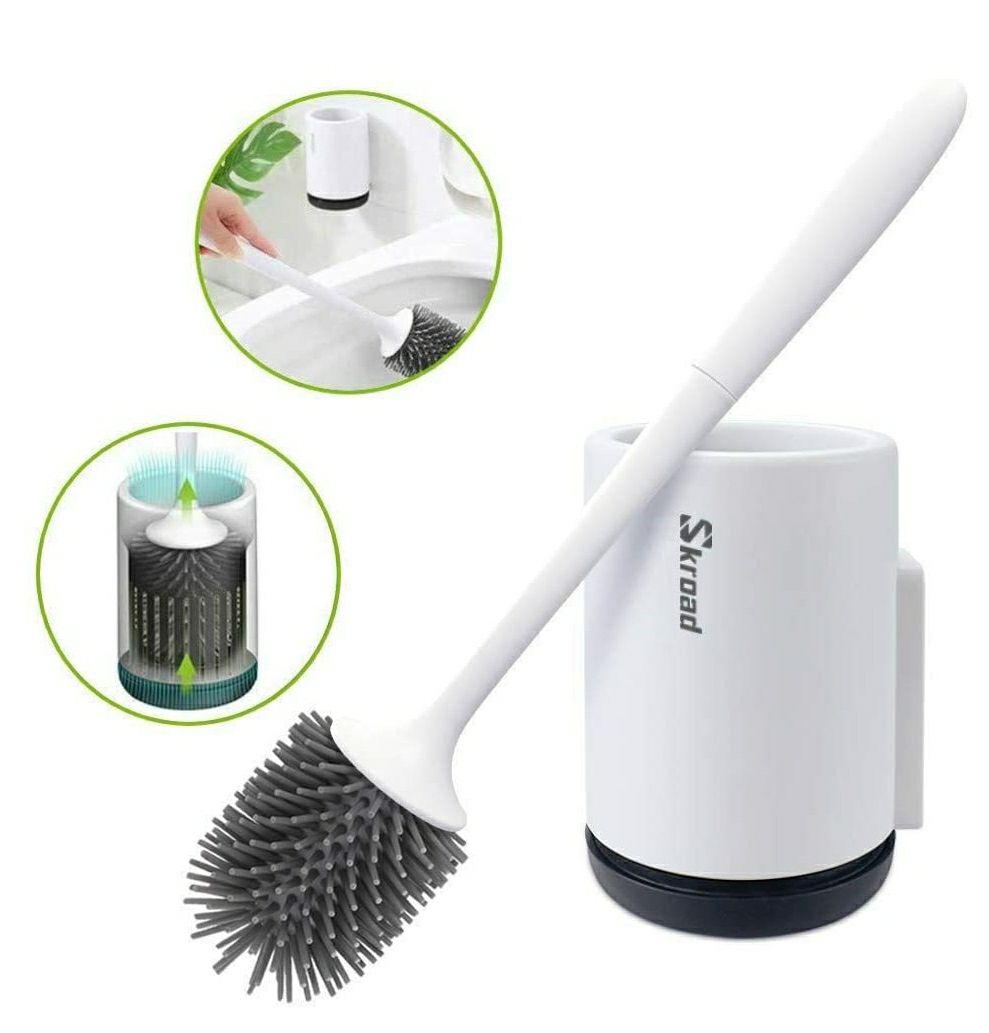 Juego de Cepillo y Soporte para WC, Silicona de secado rápido