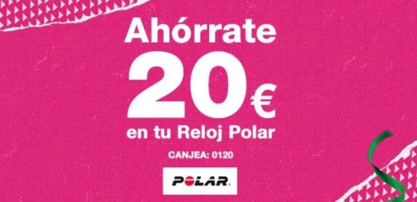 20€ de descuento en tu reloj Polar