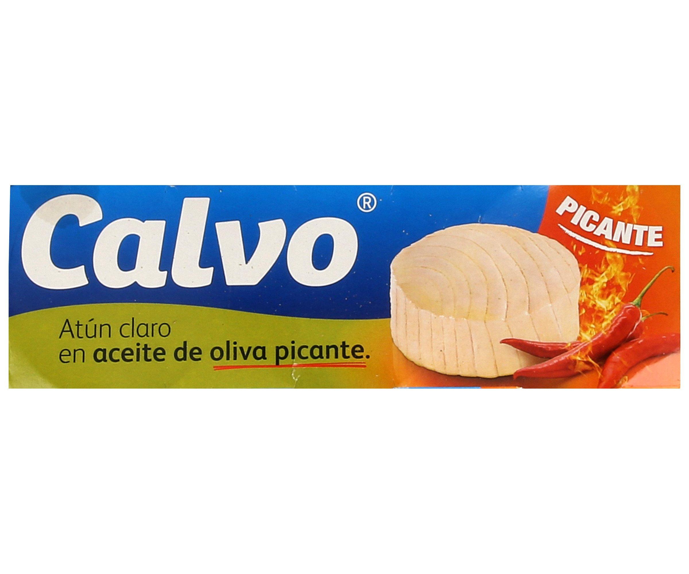 Atún claro en aceite oliva picante Calvo 3 x 80 g
