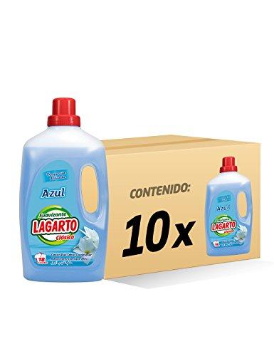 Lagarto Azul Suavizante para Ropa - Paquete de 10 x 1,26L
